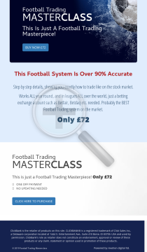 Football Trading Masterclass preview. Click for more details