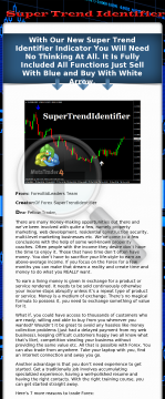 Forex Super Trend Identifier Trading System preview. Click for more details