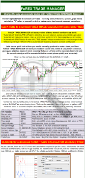 Forex Trade Manager preview. Click for more details