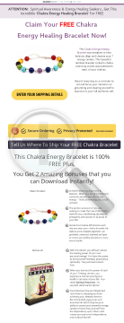 Free Chakra Energy Healing Bracelet preview. Click for more details