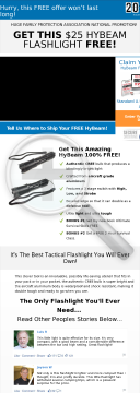 Free Hybeam Tactical Flashlight Converts 14.49 Percent preview. Click for more details