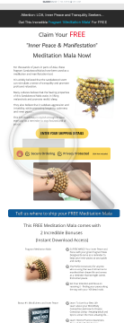 Free Meditation Bracelet Offer preview. Click for more details