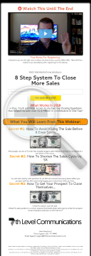 Free Presentation Reveals: 8 Step System To Close More Sales preview. Click for more details