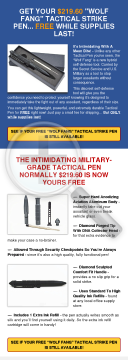 Free Self-defense Tactical Pen - High Conversion Rates preview. Click for more details