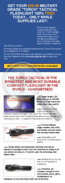 Free Tactical Flashlight - All Types Of Traffic, Genders, Ages preview. Click for more details