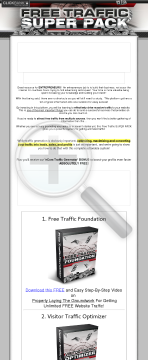 Free Traffic Super Pack preview. Click for more details