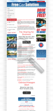 Freecarsolution.com - Get Paid To Drive preview. Click for more details