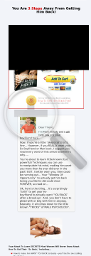 Get Him Back Fast - Win Your Ex Boyfriend & Man - Earn 75% Per Sale! preview. Click for more details