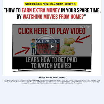 Get Paid To Watch Movies? Show People How To Get Paid To Be Lazy! preview. Click for more details