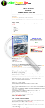 Getting Started Essentials For Building A Career In Auto Sales preview. Click for more details