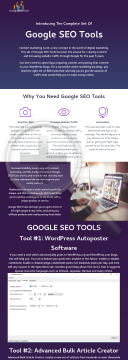 Google SEO Tools preview. Click for more details
