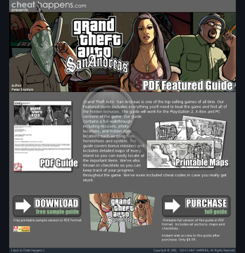 Grand Theft Auto: San Andreas Guide. preview. Click for more details