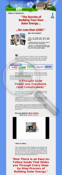 Greendiyenergy (top Converting) Solar,wind Energy Diy Guide preview. Click for more details