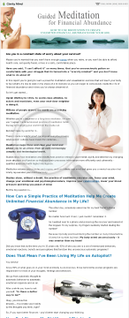 Guided Meditation For Financial Abundance preview. Click for more details