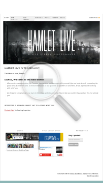 Hamlet Live - On Demand - Live Streamed Performance preview. Click for more details