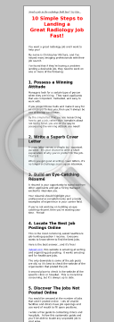 Healthcare Job Hunting Ebook preview. Click for more details