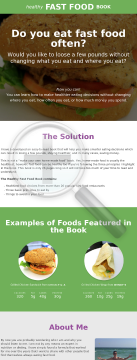 Healthy Fast Food Book preview. Click for more details