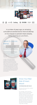 Healthy Heart Network - Doctor Warrick Bishop preview. Click for more details