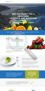 Healthy With Paleo - Stunning Sales Page Design High Converting preview. Click for more details