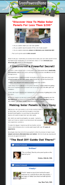 High Converting Diy Solar Panel Ebook W/ Upsales - Go! preview. Click for more details