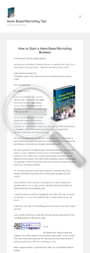 Home Based Recruiting Tips preview. Click for more details