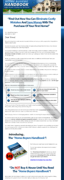 Home Buyers Handbook preview. Click for more details