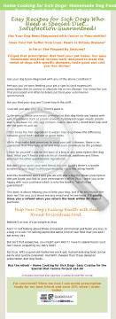 Home Cooking For Sick Dogs / Safe Alternative To Prescription Diets preview. Click for more details