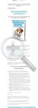 Housebreaking Confidence preview. Click for more details