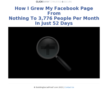 How I Grew My Facebook Page To 3,776 People In Just 52 Days preview. Click for more details
