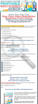 How To Create Your Own Profitable Newsletter Business From Home! preview. Click for more details