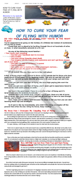 How To Cure Your Fear Of Flying W. Humor&practical & Educational Tips preview. Click for more details