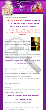 How To Cut Hair For Beginners - Zero Competition + 75% Commission preview. Click for more details