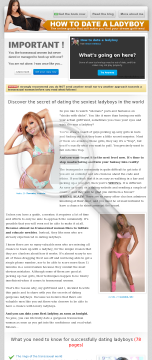 How To Date A Ladyboy, The Complete Guide preview. Click for more details