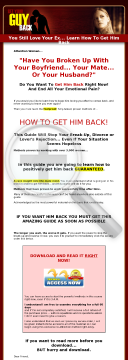 How To Get A Guy Back In As Little As 7 Days preview. Click for more details