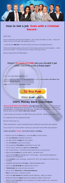 How To Get A Job When You Have A Criminal Record preview. Click for more details