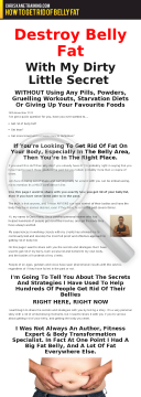 How To Get Rid Of Belly Fat - For Men preview. Click for more details