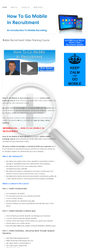How To Go Mobile In Recruitment preview. Click for more details