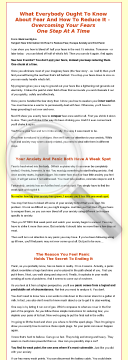 How To Reduce Fear, Escape Anxiety, And End Panic preview. Click for more details