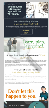 How To Retire Early preview. Click for more details