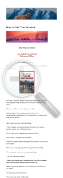 How To Sell Your Artwork - Online And Offline preview. Click for more details
