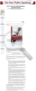 How To Survive Public Speaking preview. Click for more details