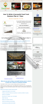 How To Write A Successful Food Truck Business Plan In 7 Days preview. Click for more details