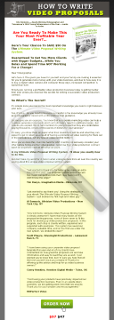 How To Write Video Business Proposals preview. Click for more details