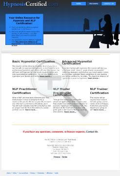 Hypnosis & NLP Certification Courses! preview. Click for more details