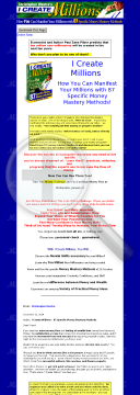 I Create Millions - 87 Money Methods. preview. Click for more details