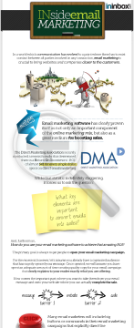 Inside Email Marketing preview. Click for more details