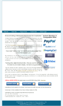 Instant Member Software preview. Click for more details