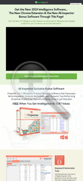 Intellgynce Ecommerce Research Software Platform preview. Click for more details