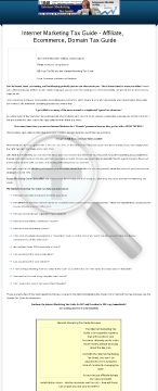 Internet Marketing Tax Guide preview. Click for more details