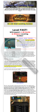 Joanas 1-90 Wow Leveling Guide preview. Click for more details